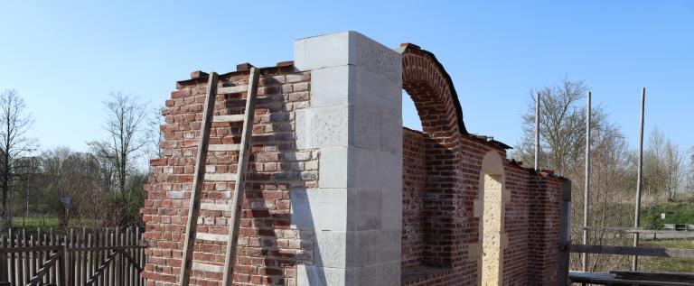 Bouwen poortgebouw ladder.png
